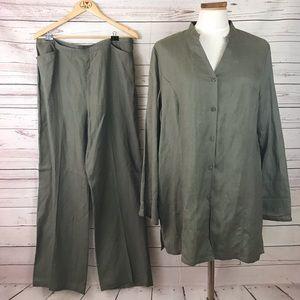 CASLON Linen Blouse & Pants Size XL 16
